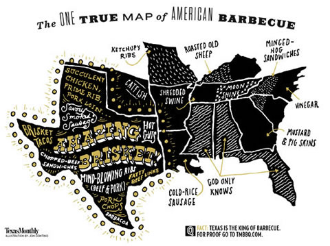 Texas Monthly BBQ Map of US