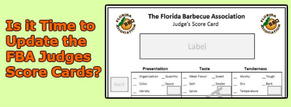 Proposed Update FBA BBQ Judges Score Card
