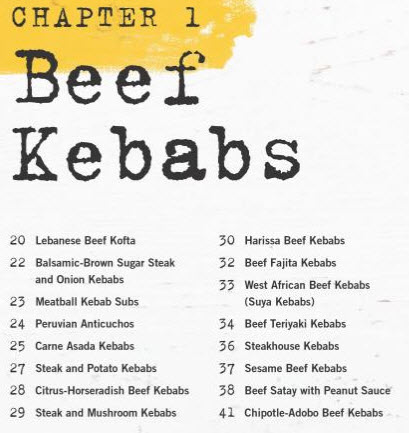 Derrich Riches Beef Kebab Recipes - Kebabs 75 Recipes for Grilling