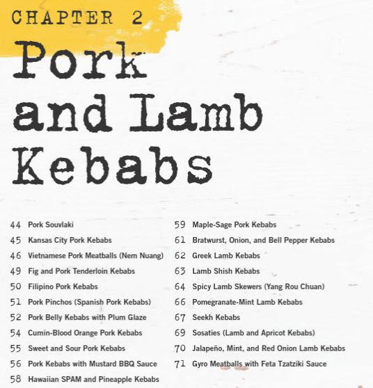 Derrick Riches Pork and Lamb Kebab Recipes - Kebabs 75 Recipes for Grilling