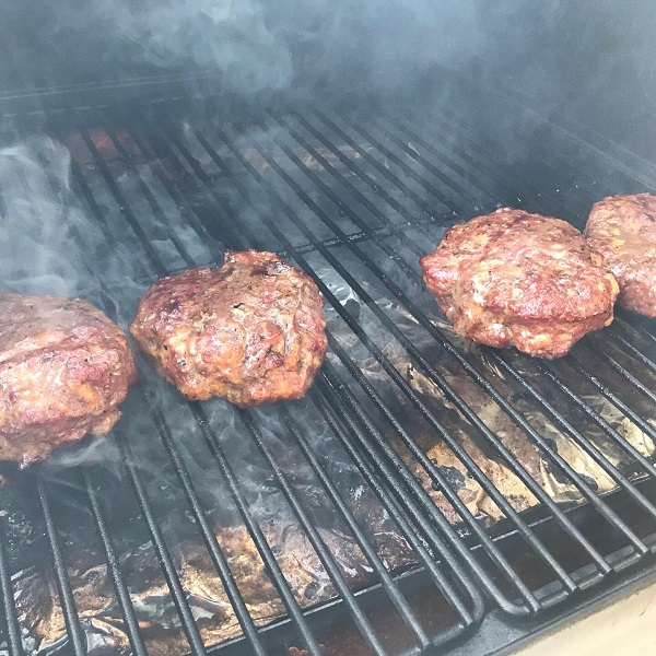 Certified Angus Beef Burgers on the Camp Chef Woodwind SG Pellet Grill