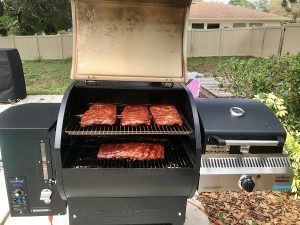 Camp Chef Woodwind SG Pellet Grill with Sidekick Review Smoked Pork Ribs